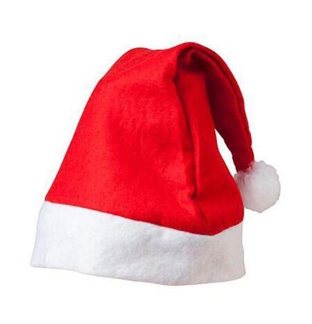 Рождество Санта-Клаус шляпа красной и белый колпак Партия Шляпа для костюма Санта-Клаус рождественских украшений для детей взрослого Рождества Hat 888