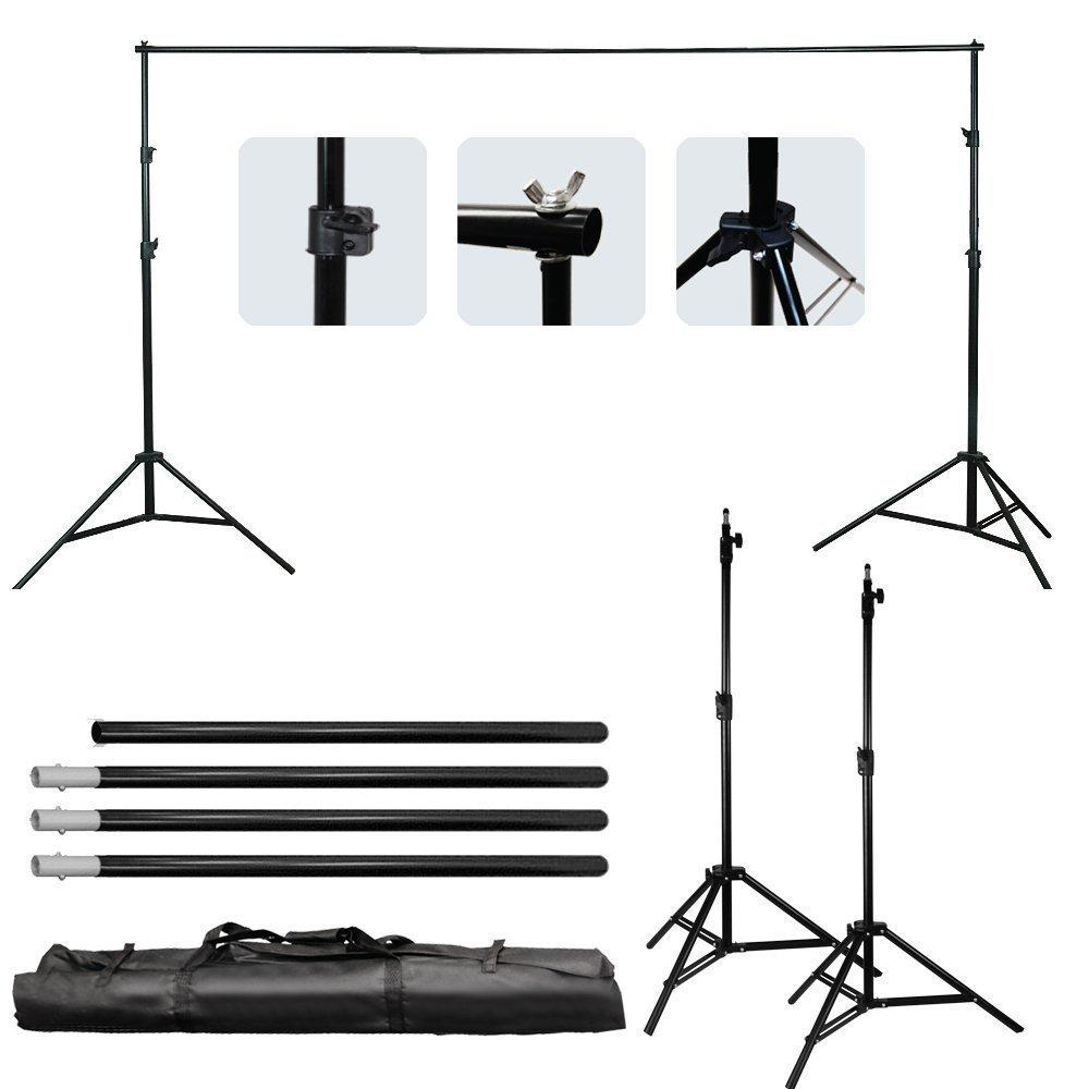 을 Freeshipping 좋은 품질 2.6M X 3M 프로 사진 사진 배경막 배경 지원 시스템은 사진 비디오 스튜디오 + 캐리 백 스탠드