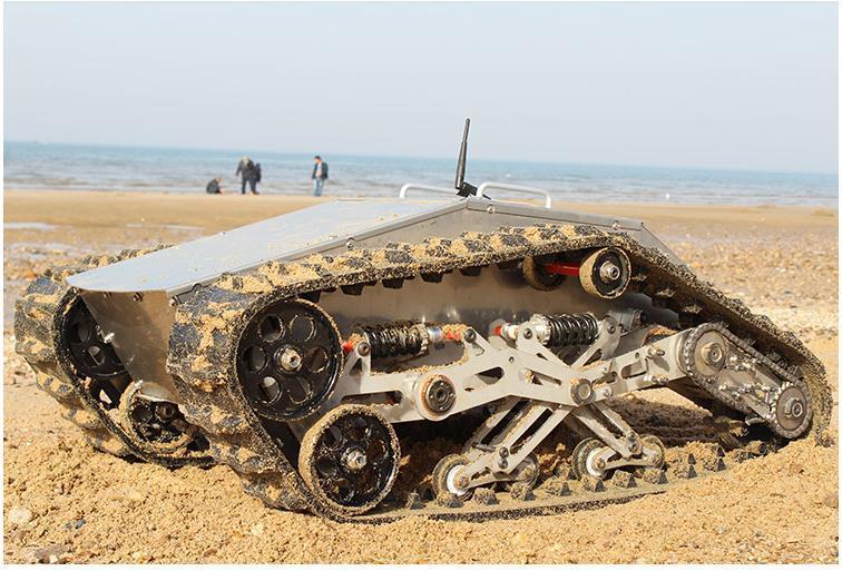 880t máquina de rastos Robot Tanque Chassis RC inteligente Crawler Tanque Cross Platform de obstáculos com carga máxima 100 kg