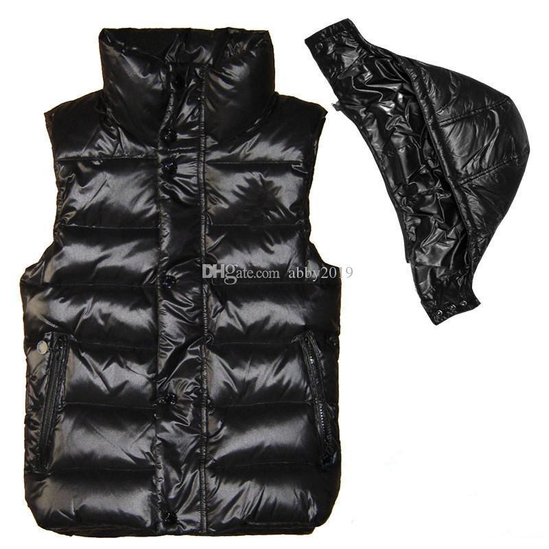 Nova marca Designer Homens e mulheres de inverno para baixo do colete jaquetas weskit clássico de penas mulheres coletes casuais casaco desgaste exterior plus size: XS-XXXXL