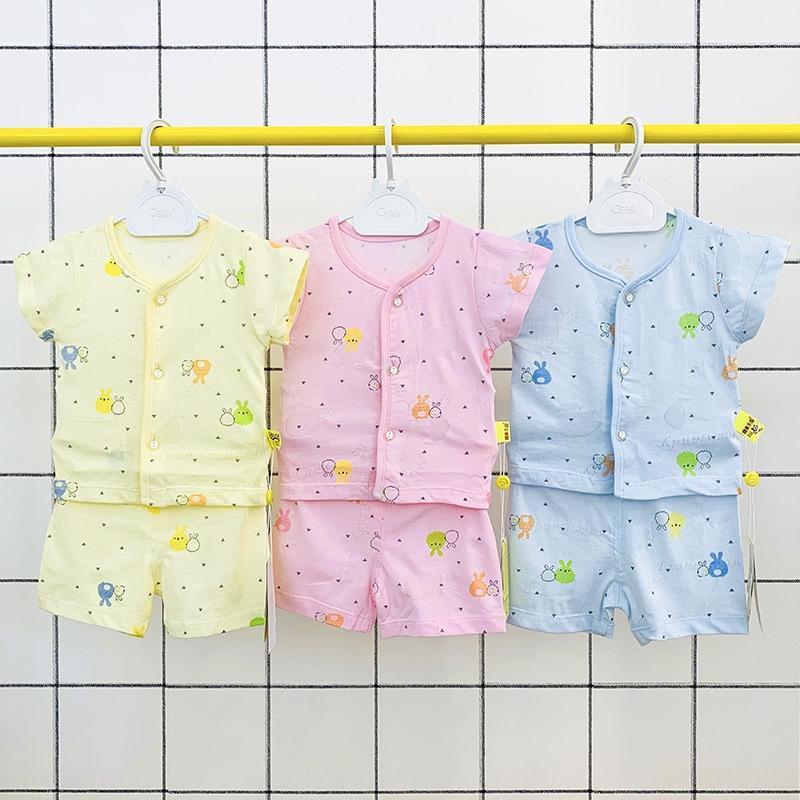 2020 Gilet bébé de sexe masculin et un short et bébé femme jacquard mince veste respirant short à manches courtes costume du nouveau-né