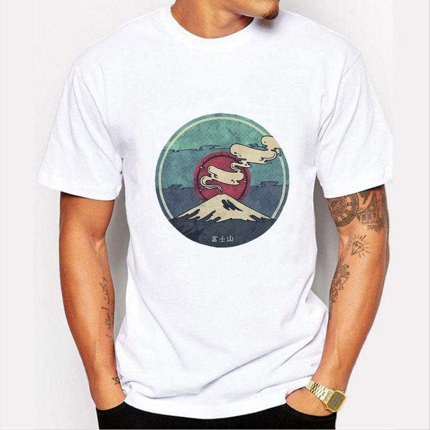 Trend t-Shirt,Fuji in Japan Fashion Personality Customization