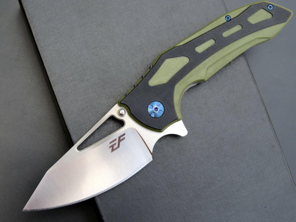 eafengrow EF914 D2 G10 de la lámina manija táctica de caza plegable del cuchillo del cuchillo de la supervivencia del bolsillo herramientas multi navidad