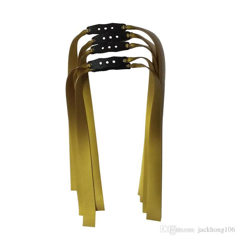 10PCS / LOT 1MM سماكة المقلاع شقة باند المطاط المستخدمة لاصطياد الصيد الذهب والفضة الفرقة المقلاع مطاط المطاط