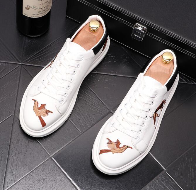 kişilik Sonbahar erkek ayakkabı tasarımcısı öğrenci rahat ayakkabılar gençlik eğilim lüks erkek zapatillas 127 hombre nakış