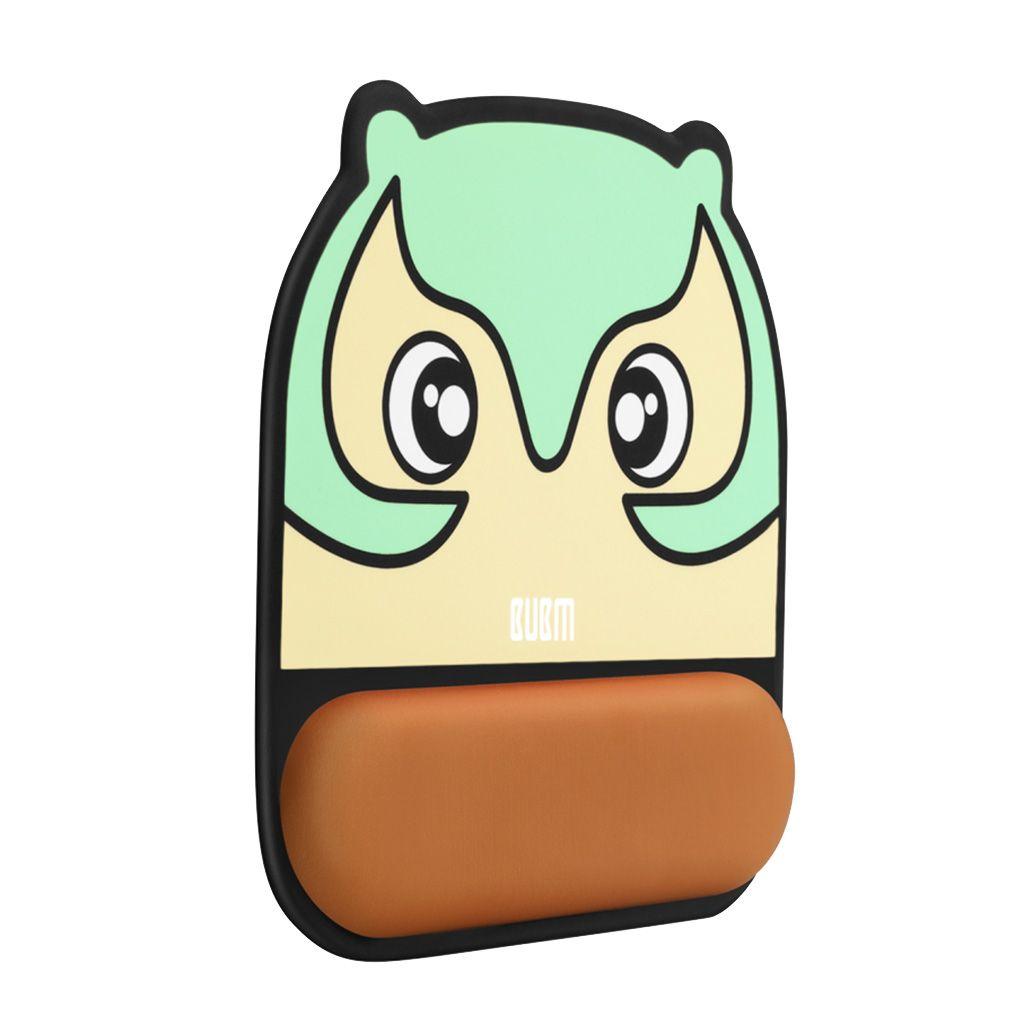 Comfort supporto per il polso in silicone Mouse Pad Protect Tappetino mouse Owl modello verde