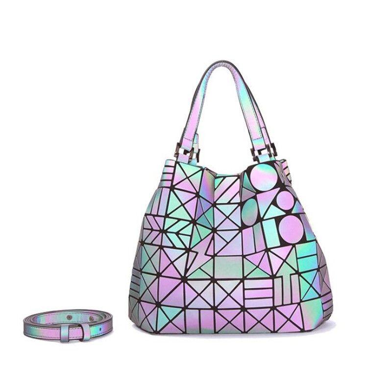 Yeni Moda Tasarımcısı Çanta Kalite Lüks Deri Geometrik Lazer Omuz Çantası Kalın Baskı Tasarım Ücretsiz Kargo # 813