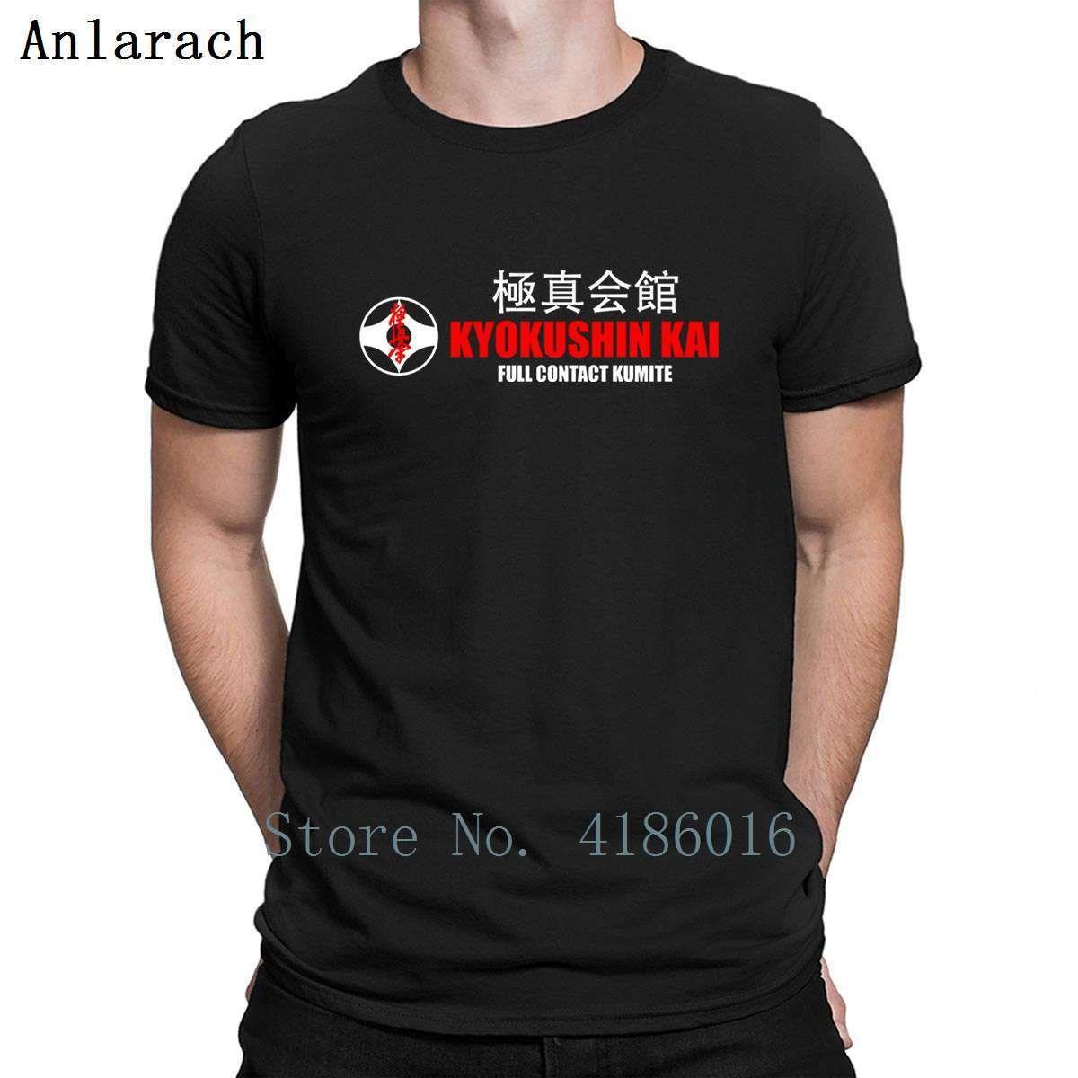 Kyokushinkai Karate Camiseta Academia de algodão estampado Kawaii Vintage Primavera Outono Humor O-Neck Shirt