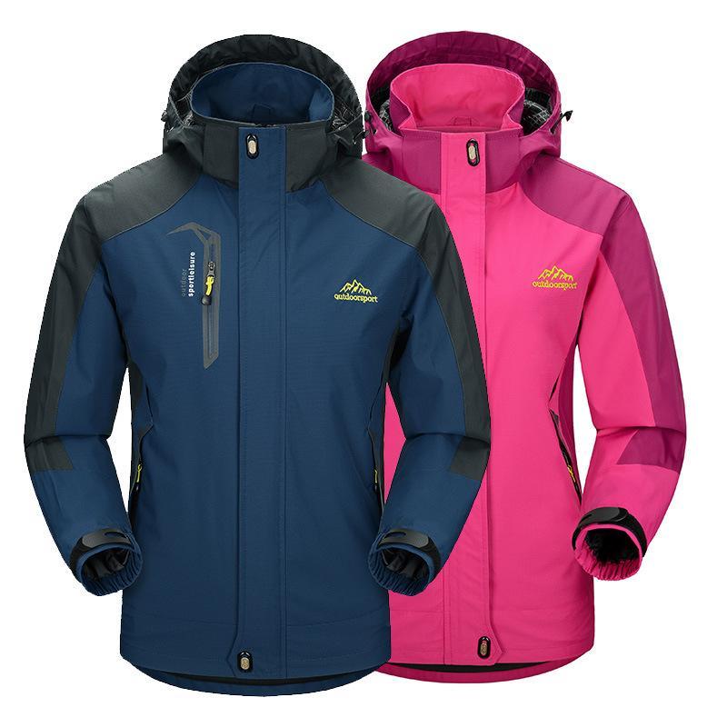 Spring And Autumn Thin Hooded Raincoat Jacket Men's Outdoor COUPLE'S Single Layer Sports Mountaineering Women Windbreaker Jacket
