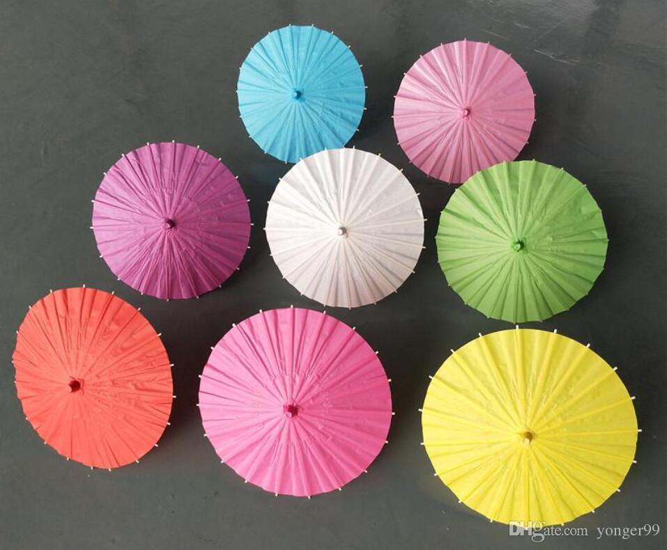 Guarda-sóis de casamento nupcial guarda-chuvas de papel Colorido mini guarda-chuva de artesanato Chinês Diâmetro 20/30/40/60 cm guarda-chuvas de casamento para atacado