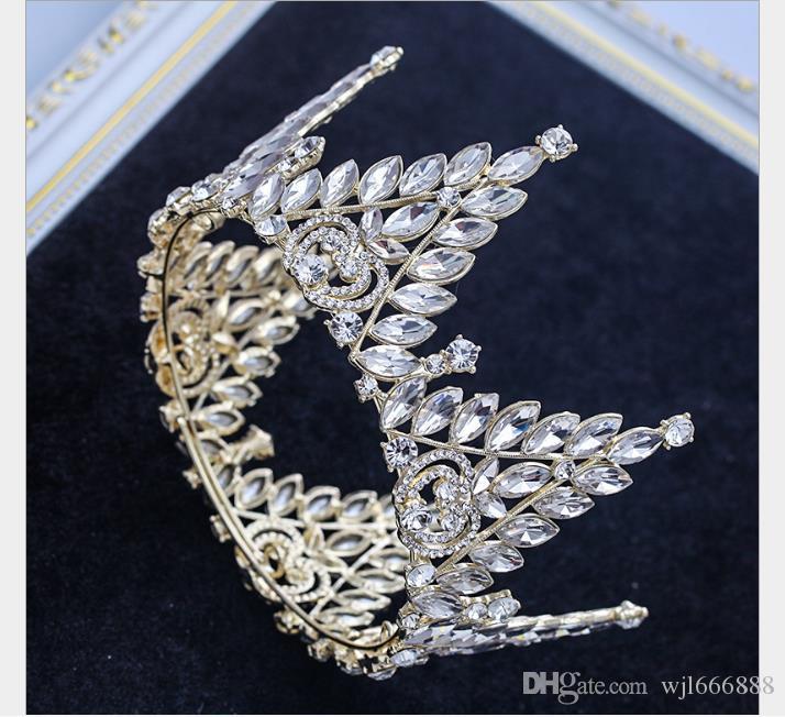 Princesa Euro-Americana Coroa De Noiva Cocar Vestido De Casamento Palco Do Casamento Vestuário Cocar Correspondência