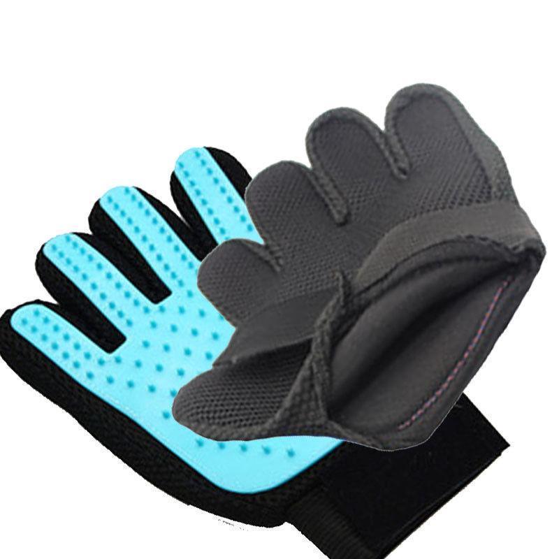Pet Grooming Handschuh-Bürsten-Hund Katze Magic Touch-Pelz-Haarentfernung Mitt Massage Deshedding Comb Five Fingers Silikon-Handschuhe