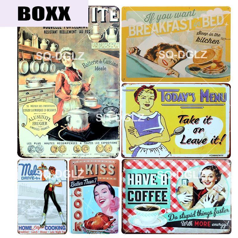 Aluminite Pancarte de Métal Vintage Signes Tin Rétro Plaque Plaques Café Pub Club Accueil décorations Metalen Borden Décor pour la maison