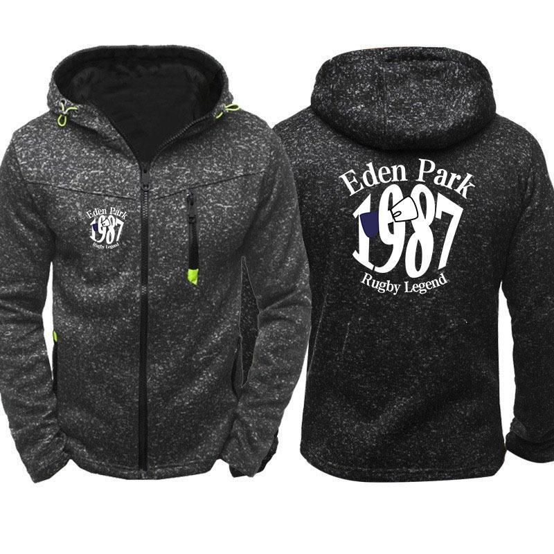Eden Park Erkekler Spor Casual Giyim Fermuar Copine Moda Gelgit Jakarlı Hoodies Polar Ceket Güz Tişörtü Sonbahar Kış Coat C1223