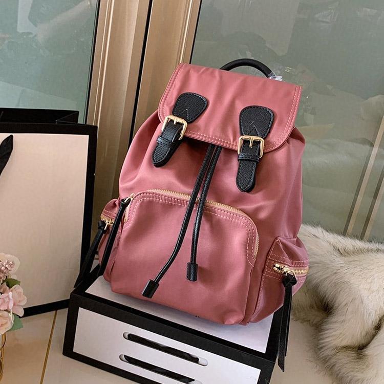 progettista di lusso zaino in nylon zaino impermeabile grande capienza portatile borse da viaggio sacchetto di scuola due formato libero