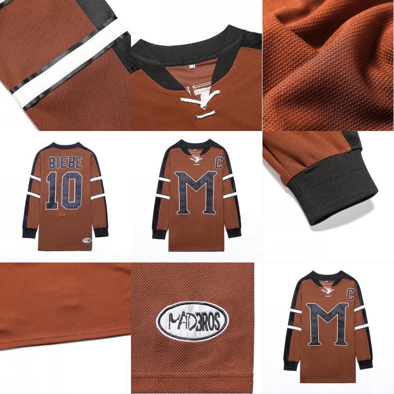 # 10 Джон BIEBE ТАЙНА, ALASKA Рассел Кроу фильм Хоккей Джерси рубашка мужская прошитой Вышивка логотипов