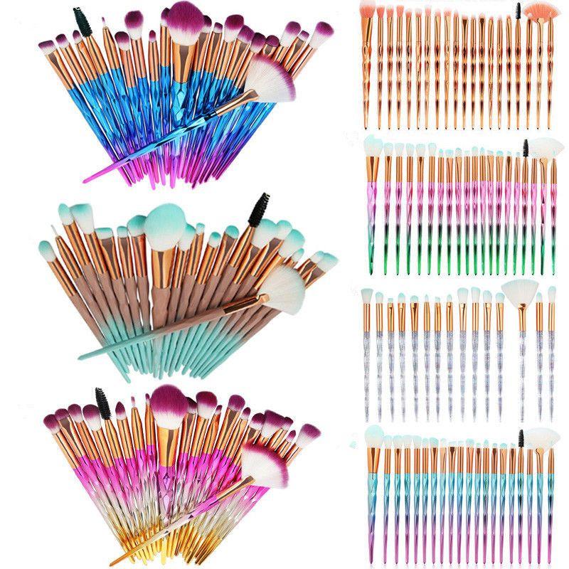 Makeup Brushes Sets Diamond Mermaid Make Up Brushes Kit Tools Eyeshadow Face Powder Foundation Eyes little Fish Brush 9 style 10 to 21pcs