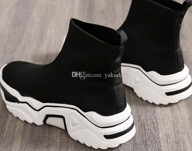 2019 chaussures de chaussettes élastiques PAPA femmes traversent le pays sur les chaussures de course de piste sentier mignon chaussures de marche de jogging gymnase magasins en ligne pour la vente occasionnelle