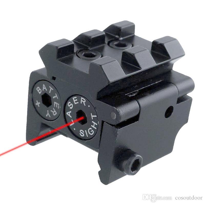 Tactique Mini Pistolet Compact Réglable Point Rouge Vue Laser Avec Détachable 20mm Montage sur Rail Picatinny Pour La Chasse Au Fusil En Plein Air