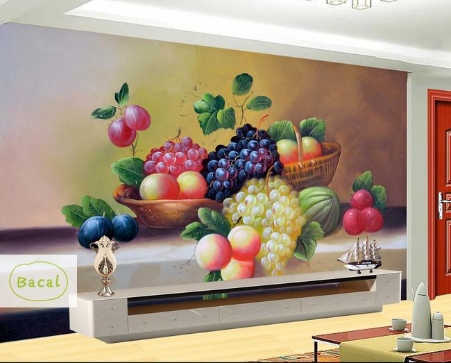 Bacal Custom Wall Painting Fruit Photo Wallpaper Restaurant Living Room Kitchen Background Wall Mural  European Style Wallpaper