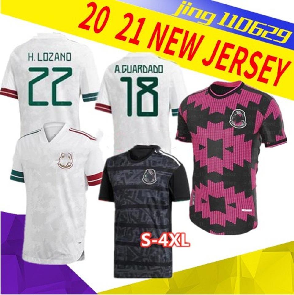 S-4XL Player Версия 20 21 Мексика футбол для футбола H.LOZANO DOS Santos Chicharito 2020 2021 Национальная команда спортивные футбольные рубашки