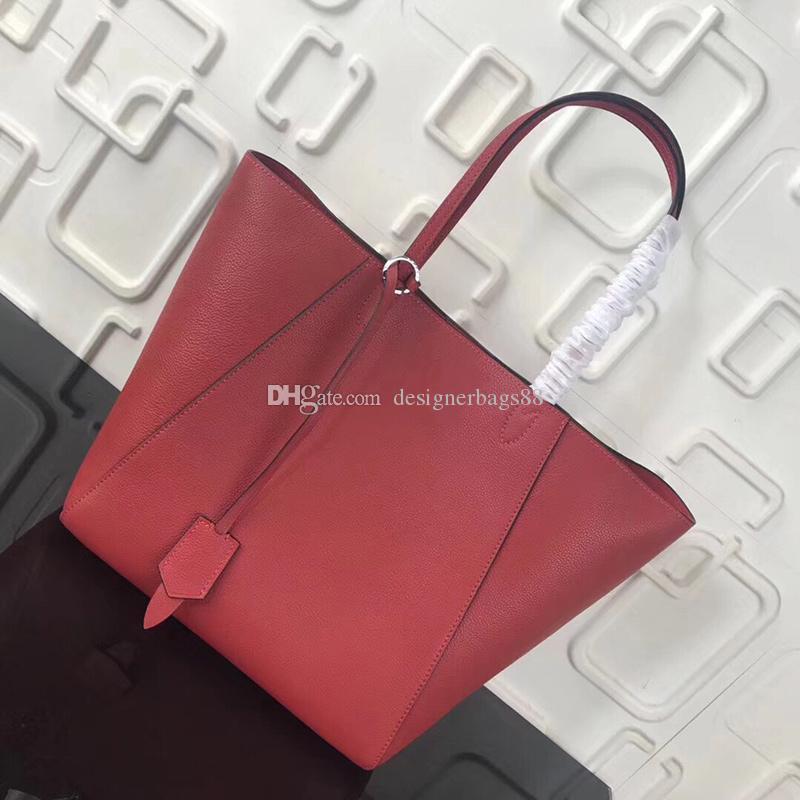 2019 marca borse di lusso stilista Top borse di qualità borsa del Tote grande capacità di blocco in vera pelle borse della spesa 43 centimetri