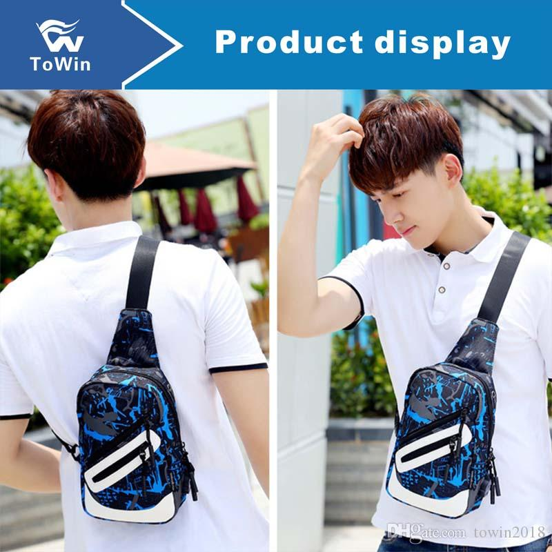 Casual Shoulder Bag Zipper Design Oxford Fabric Handbag Wallet Daily Outdoor Shopping Traveling Potable Cell Phone Storage Bag 2019 Discount