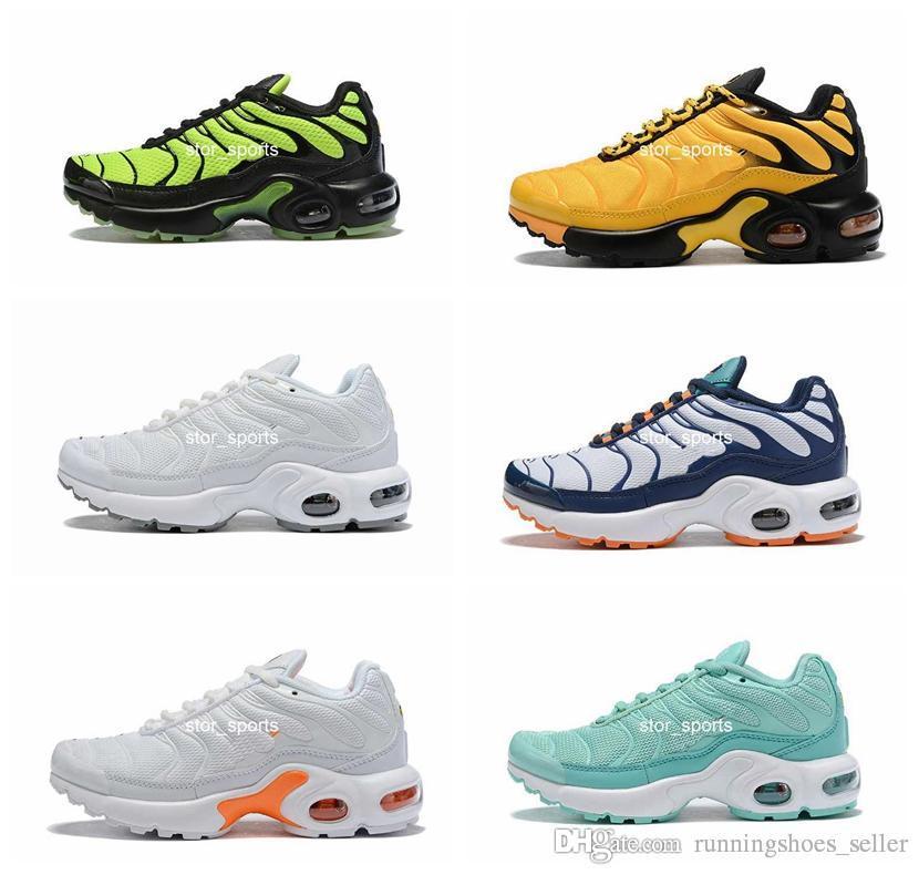 2019 nike air max TN Plus  جديد للأطفال الاحذية تنفس بنات أولاد الشباب ماكسيس مصمم أحذية رياضية يورو حجم 28-35