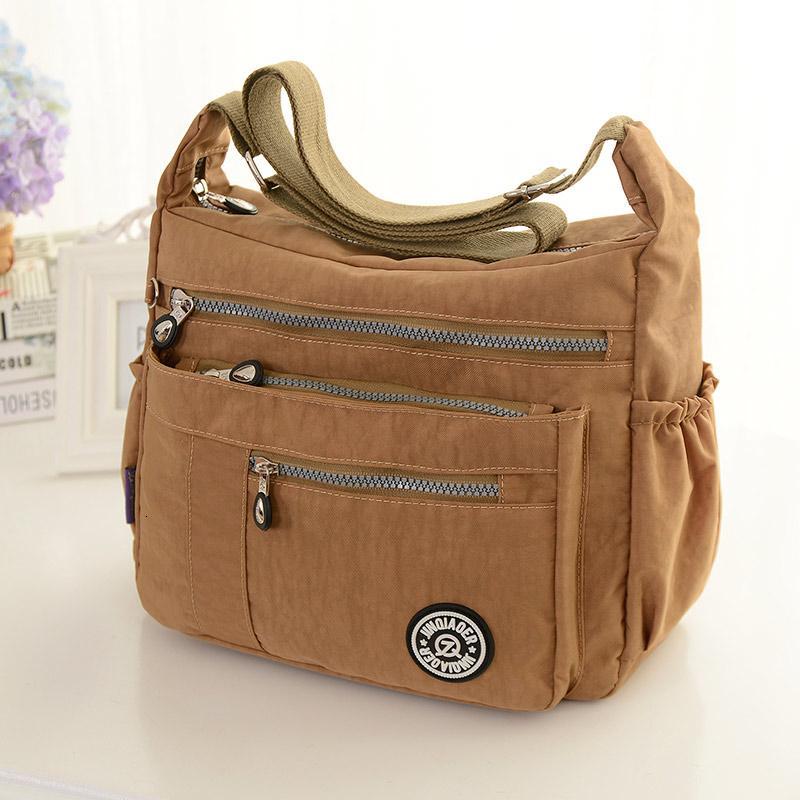 Новые приходят оптовой моды случайные водонепроницаемый нейлон плеча сумку # 921 T191205