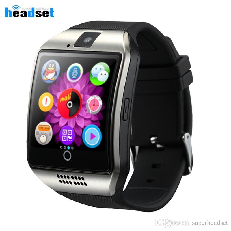 поддержка Q18 Смарт Часы с камерой Bluetooth SmartWatch карты SIM TF Фитнес активность Tracker Спортивные часы для Android