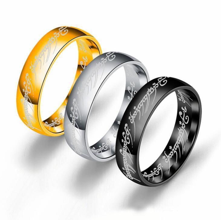 316L Stainless Steel Finger Ring for Men Women Lovers' Finger Rings Men Ring Tungsten Carbide Wedding Engagement Jewelry Wholesale