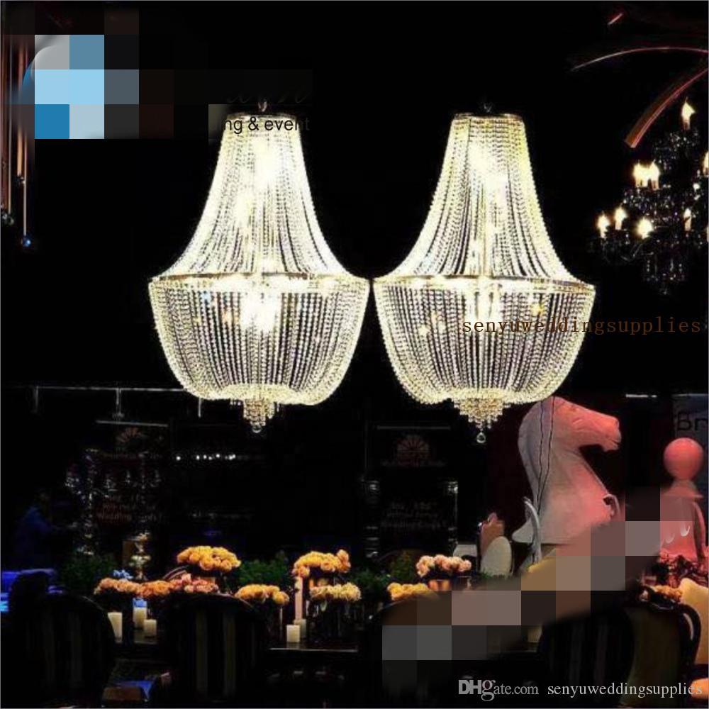 New style( no light including )Beautiful hangging crystal roman pillars decoraiton stage wedding mandap senyu0490