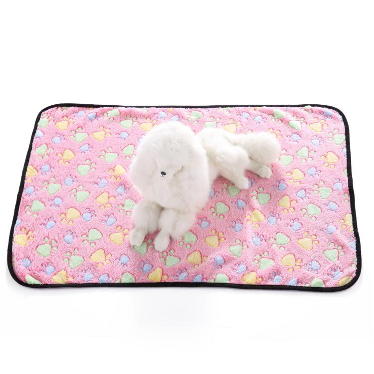 لطيف الحيوانات الأليفة الصغيرة الدافئة غطاء باو طباعة القط الكلب الهامستر جرو الصوف لينة سرير حصيرة وسادة وسادة