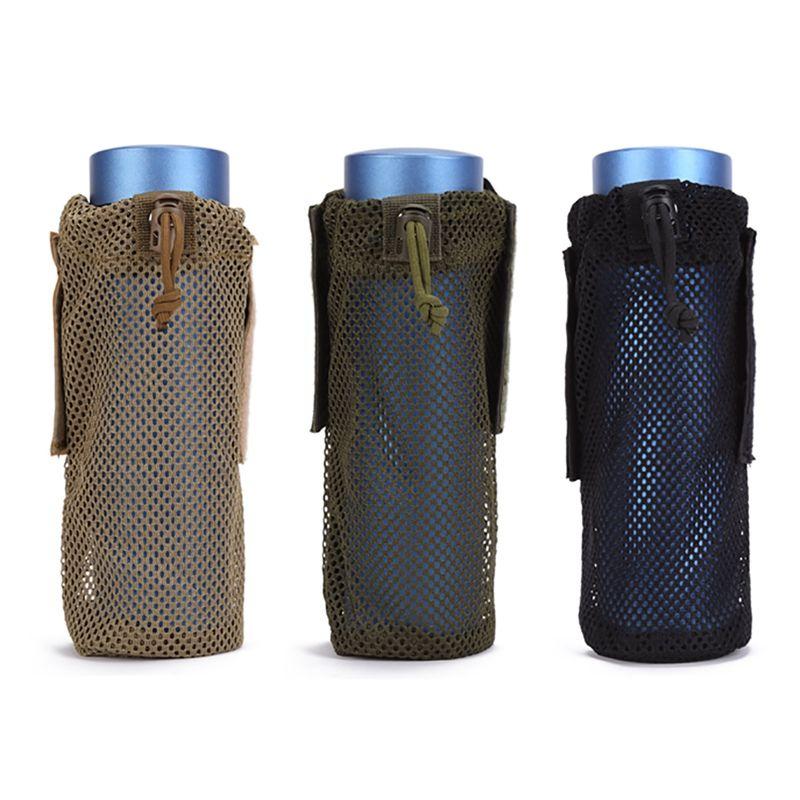 Garrafa Bolsas Bolsa Multifuncional Caminhadas Cup Água Tampa Multi-função malha Garrafa Sleeve