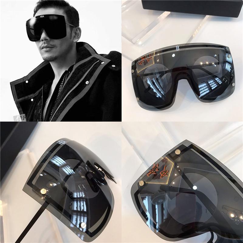 Güneş Gözlüğü Lens Yeni Kombinasyon Tasarlanmış Özel Boyutlu Çift Katmanlı Marz Çerçeve Stil Lens UV400 Avant-Garde Moda Rawmw ile
