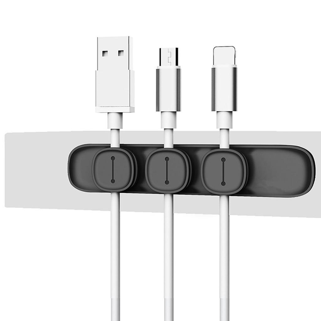 البازلاء كابل العالمي ABS + TPU المغناطيسي USB كليب سطح المكتب منظم الأسلاك ويندر حامل التخزين لجولة / شقة الخط