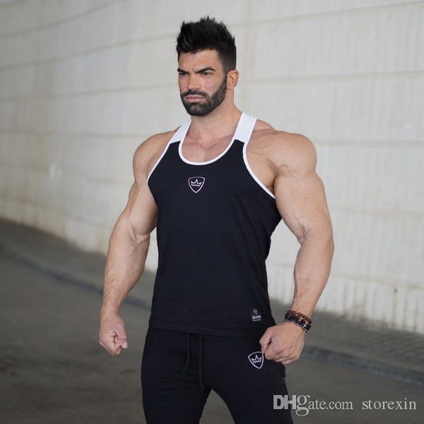 2019 nouvelle veste de sport en plein air de gymnase Muscle Brothers tendance gilet pur coton Fitness gym training gilet