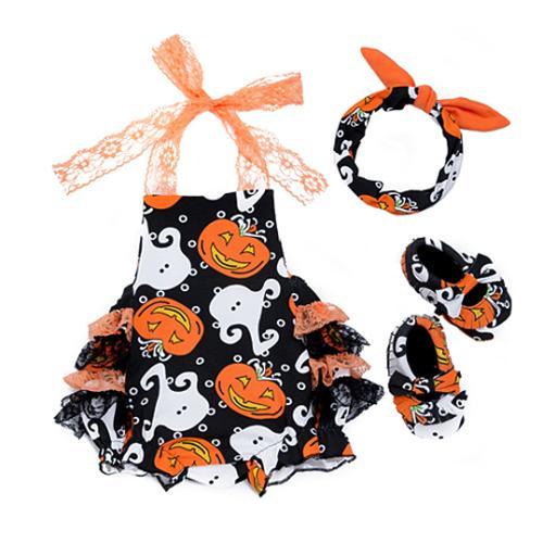 Halloween Entzückende Neugeborenes Baby, Kleinkind-Sommer-Sleeveless Overall Bodysuit Kleidung Tutu-Kleid-Ausstattung
