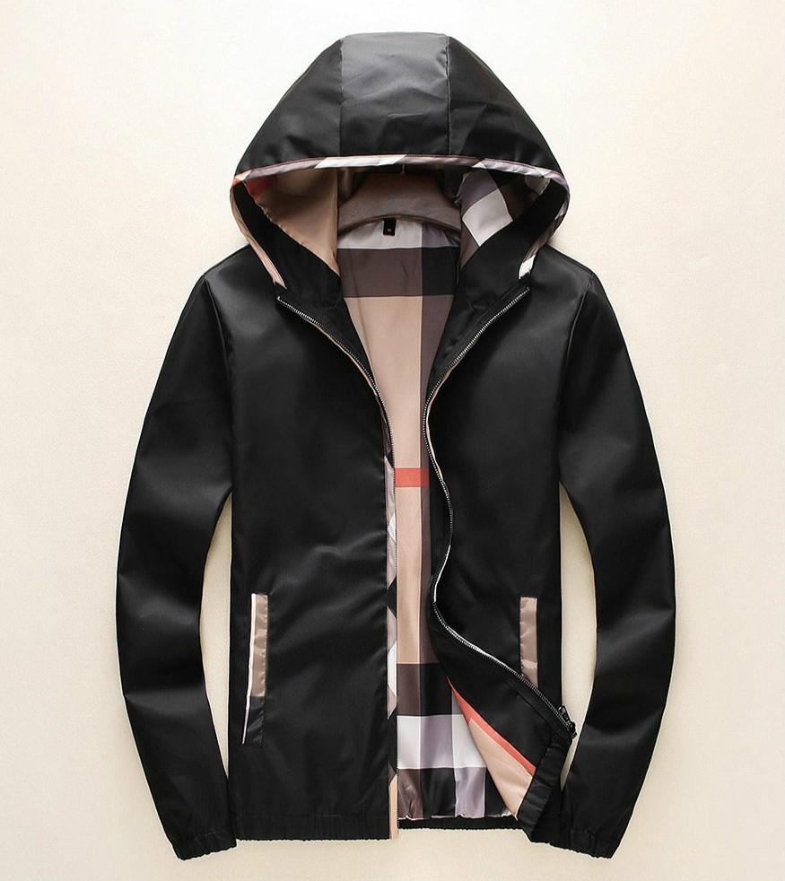 Para hombre de la marca chaquetas otoño e invierno Nueva capucha cremallera chaqueta de punto chaqueta de tendencia temperamento manera de la capa de color sólido simple capa fina