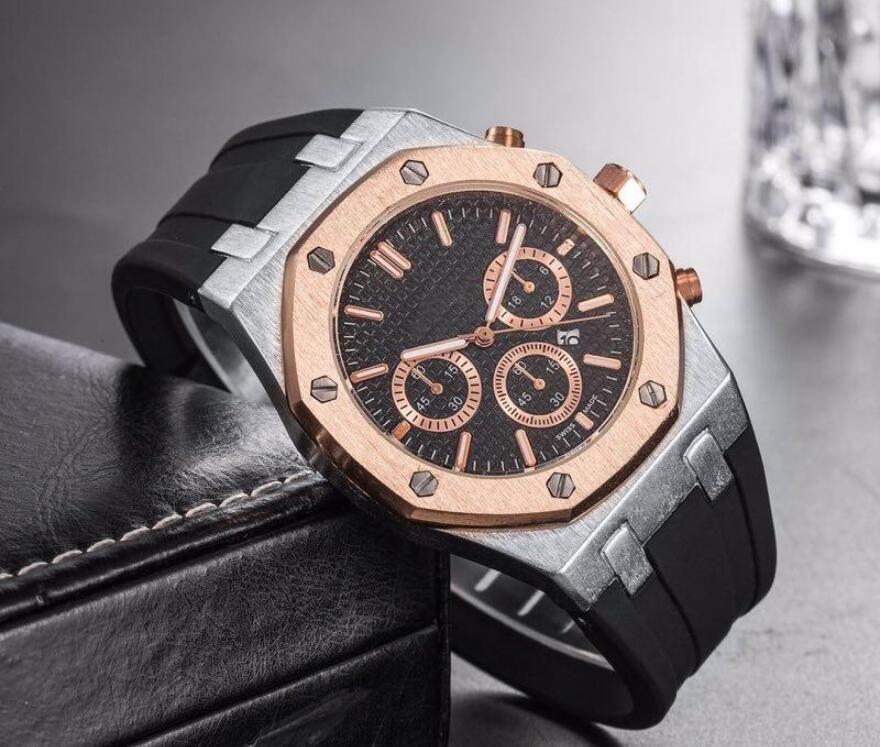 Luxus Quarz Keramik Lünette Mens Mechanische Silikon Stahl Automatikwerk Uhren Sportuhr Selbstwind Uhr Armbanduhren