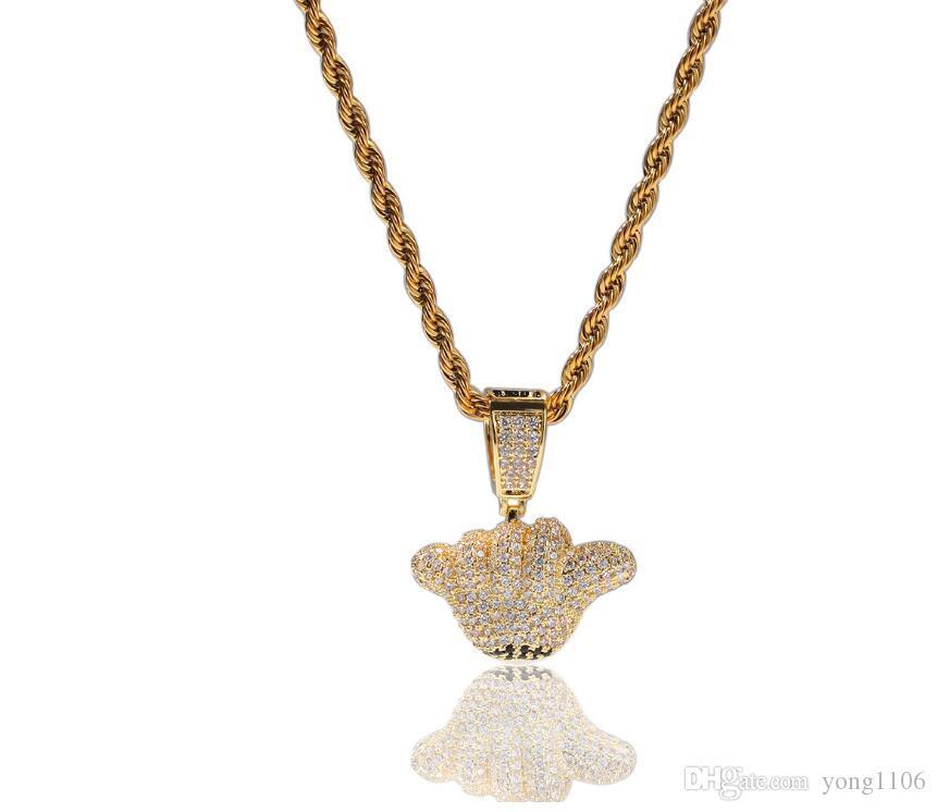Nuevo diseño de lujo de hip-hop dorados 666 accesorios pendientes gesto de personalidad de moda pendiente accesorios de moda de los hombres exquisitos