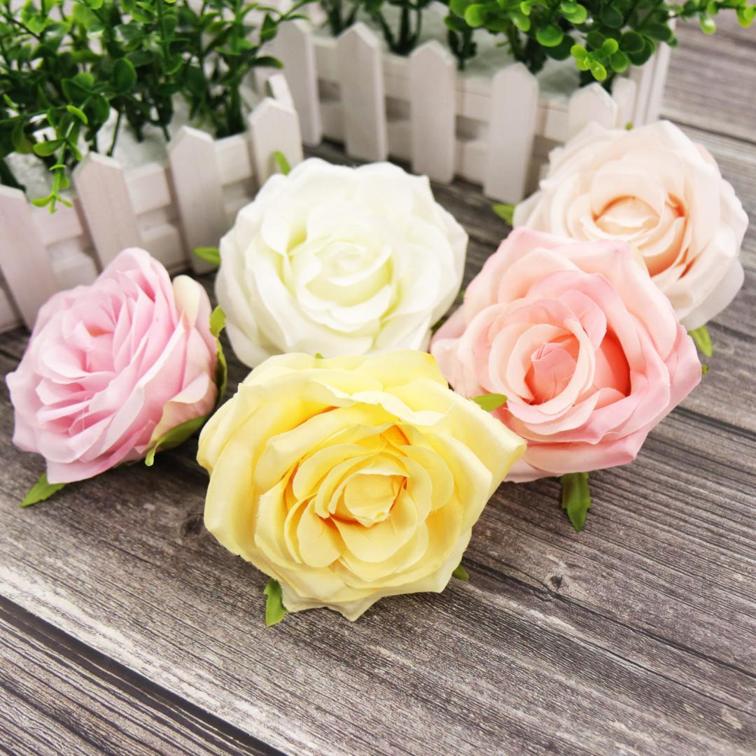 Artificial Peony Flower Heads Fall Vivid Silk Fake Flowers Gift Box Scrapbooking Fake flowers for DIY Home Wedding Decoration