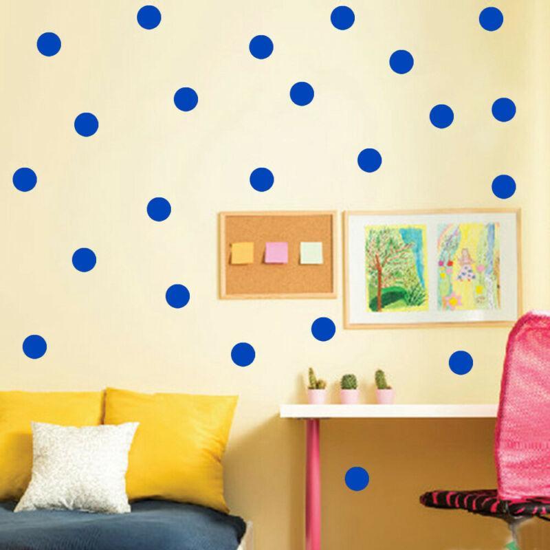 54pcs Polka Dot Art Stickers muraux Vinyle enfant Décor Spots école Decal Nursery fournitures de bureau points colorés Masking Tapes