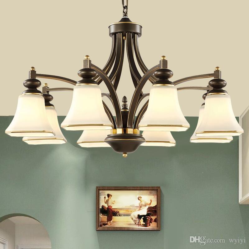 عالية الجودة الكلاسيكية الثريا الإضاءة غرفة المعيشة مصباح e27 المقبس حسنا حزمة لماعة الفقرة قورتو e27 ac 90-265 فولت