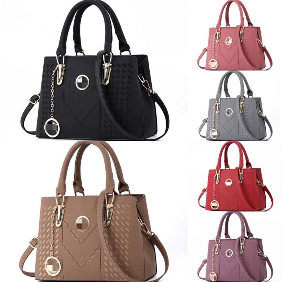 Marca Designer Bags Two Tamanho Vintage cor sólida Couro Bolsas Sac à main Designer Bag Crossbody Bolsas Pequenas Bolsas 67-46 # 479