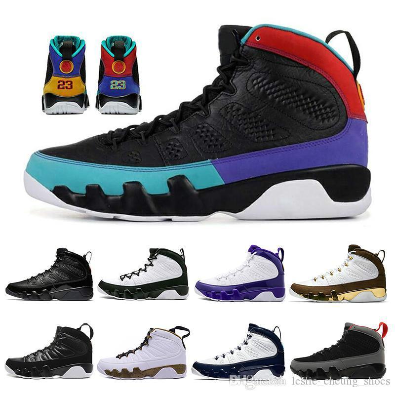 Nike Air Max Retro Jordan Shoes حلم وتفعل ذلك 9  أحذية الرجال لكرة السلة انثراسايت الروح بارد ولدت رمادي UNC ألعاب القوى الرياضة احذية 7-13