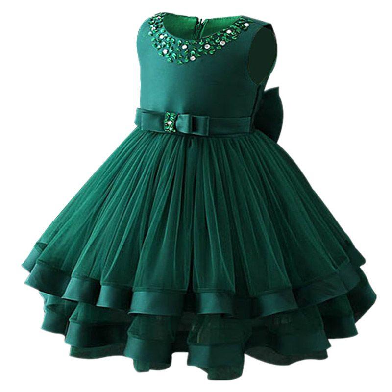 Compre Baby Girls Party Dress 2018 Elegante Vestido De Noche Para Niñas Vestidos De Cumpleaños Para Niños De 2 A 10 Años Ropa Para Niñas A 4415 Del