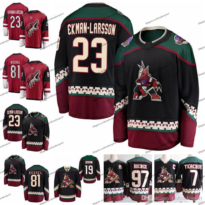 2019 Arizona Coyotes 23 Oliver Ekman-Larsson 81 Phil Kessel Vintage Phoenix 19 Shane Doan 97 Jeremy Roenick 7 Keith Tkachuk Hockey Jersey