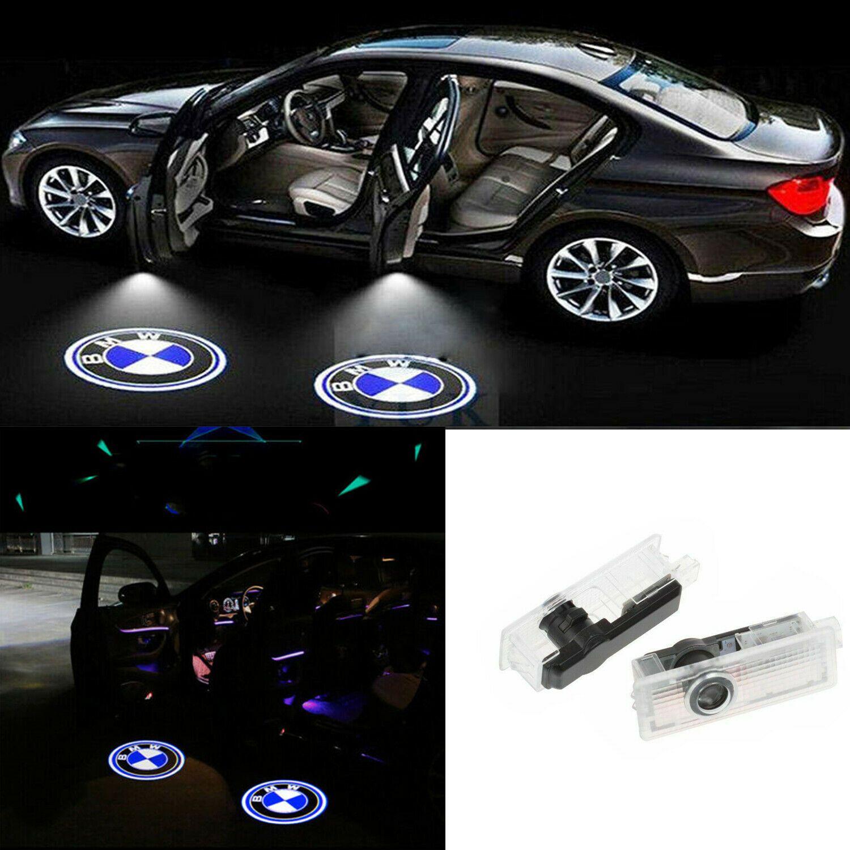 Logo 2pcs Fit BMW LED del portello di automobile del proiettore di luce dell'ombra del fantasma luci benvenute Ombra Luce Per E90, E46, F11, E61, E60, lampada F31