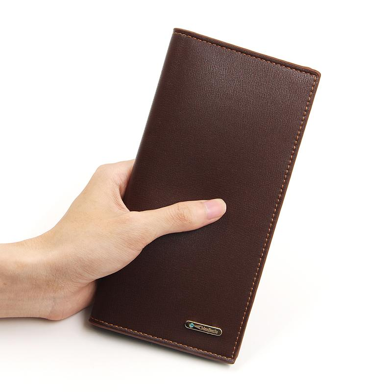 Men Wallets Classic Long Style Card Holder Male Purse PU Quality Large Capacity Big Wallet For Men